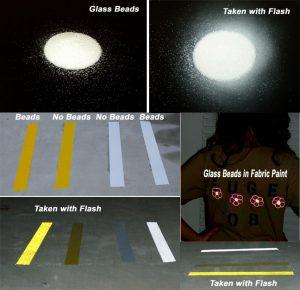 reflective road marks