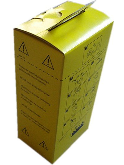 Yellow Disposal Medical Waste Safety Box